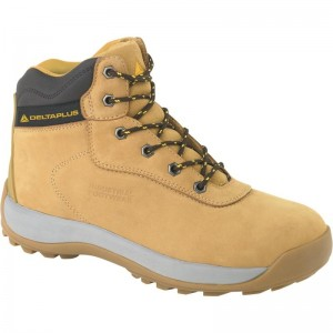 Delta Plus LH840 Safety Hiker Work Boots Tan (Sizes 7-12) Nubuck Leather
