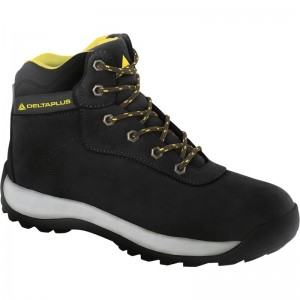Delta Plus LH842 Safety Hiker Work Boots Black (Sizes 7-12) Nubuck Leather