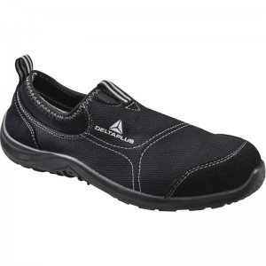 Delta Plus MIAMI Safety Trainer Shoes Black (Sizes 7-12) Canvas Slip On