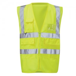 Milanese Executive Hi-Vis Yellow Waistcoat HVWPKT (Sizes S-XXXL)