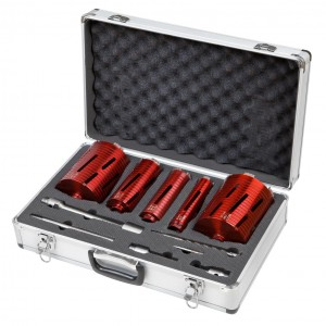 Spectrum MS5 Pro 5-Piece Dry Diamond Core Drill Bit Set & Case