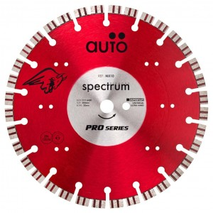 Spectrum MX10 Superfast Pro Universal/ Hard Diamond Blade (Sizes 115mm - 300mm)