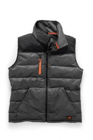 Scruffs Worker Gilet Padded Bodywarmer Grey & Black (Various Sizes)