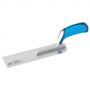 OX Pro Plasterers Pipe Trowel with Duragrip Handle Stainless Steel - 260 x 75mm