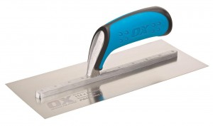 OX Pro Plasterers Trowel with Duragrip Handle Stainless Steel (Various Sizes)