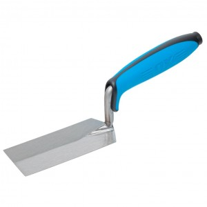 OX Pro Plasterers Margin Trowel with Duragrip Handle Carbon Steel - 125 x 50mm
