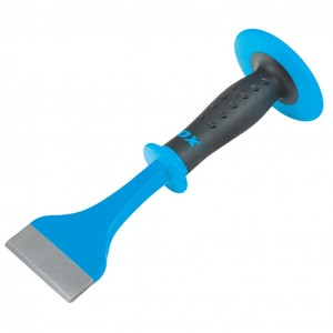 OX Pro Floor Chisel with Dual Hand Guard - 76 x 279mm