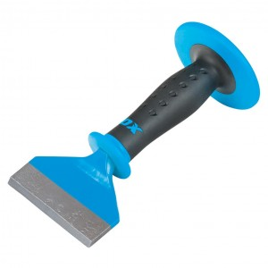 OX Pro Brick Chisel with Dual Hand Guard (76 x 215 or 100 x 215mm)