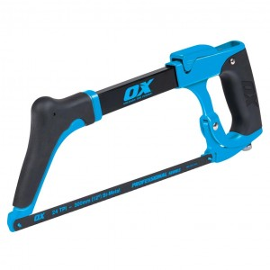 OX Pro High Tension Hacksaw with Tool Free Quick Blade Change - 300mm