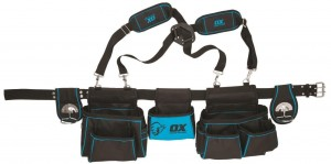 OX Pro Contractors Tool Storage Belt / Apron with Shoulder Straps