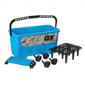 OX Trade Wash Kit with Wheels & Plastic Grid - 24L