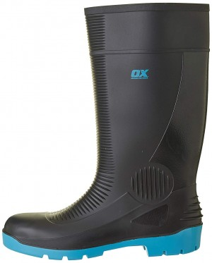 OX Safety Wellington Work Boots Black (Sizes 5-13) Wellies