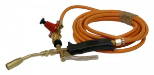 Plumbers Gas Burning Torch Kit with Regulator