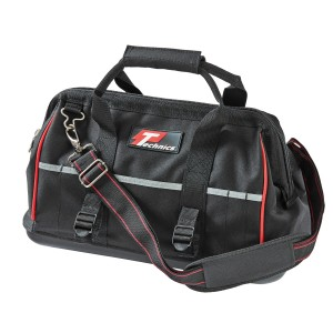 Technics 16in Heavy Duty Tool Bag With Shoulder Strap Black