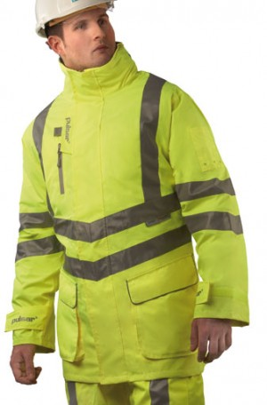 Pulsar P187 Hi-Vis Yellow Waterproof Padded Storm Coat (S-XXXL)