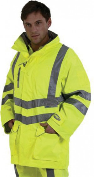 Pulsar P421 Hi-Vis Yellow Waterproof Unpadded Storm Coat (Sizes S-XXXL)