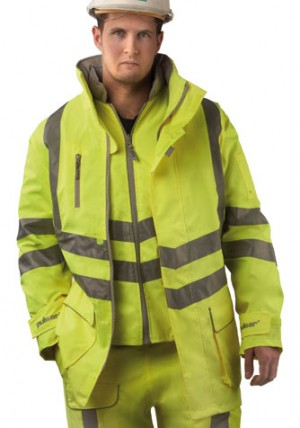 Pulsar P487 Hi-Vis Yellow Waterproof 7-in-1 Storm Coat (Sizes S-XXXL)