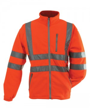 Pulsarail PR508 Classic Hi-Vis Orange Fleece Jacket (Sizes S-XXXL)