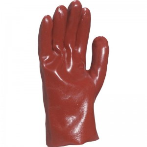 Delta Plus PVC7327 Safety Gloves Red PVC Synthetic - Size 10