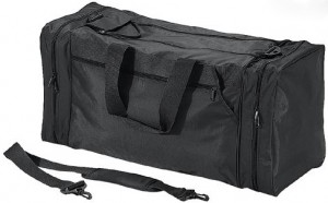 Quadra QD080 Black PPE Jumbo Workwear Holdall / Kit Bag with Racket Compartment