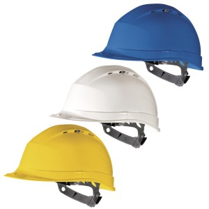 Delta Plus QUARTZ 1 Safety Hard Hat Helmet Vented (Various Colours)