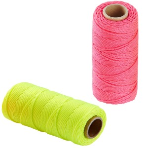 Ragni Hi-Vis Nylon Builders Brick Line 76m (Pink or Yellow)