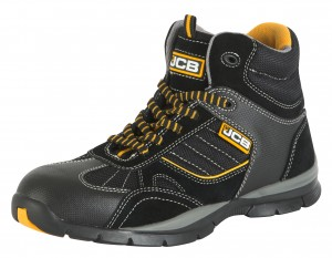 JCB ROCK Sporty Safety Hiker Boots Black (Sizes 6-13)