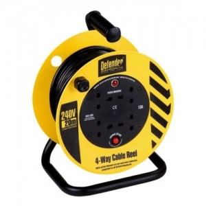 Defender 20mtr Cable Extension Reel 230v/13a E86465