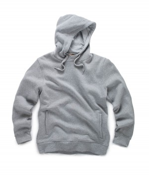 Scruffs Worker Hoodie Grey Soft and Comfortable Jumper (Sizes S-XXL)