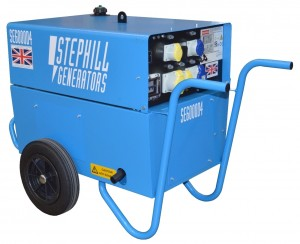 Stephill SE6000D4 Silenced Diesel Generator 4.8kW/6.0kVA - With Trolley Kit