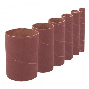 Silverline 114mm Drum & Bobbin Sanding Sleeves Set 6 Piece