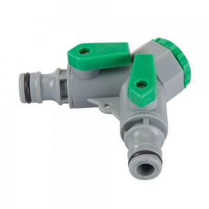 Silverline 2-Way Adaptor Hose Tap Connector 3/4in BSP to 1/2in Male