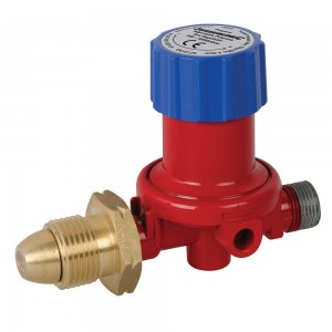 Silverline Adjustable Propane Gas Regulator 500-4000mbar