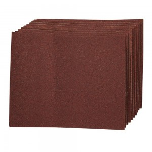 Silverline Aluminium Oxide Hand Sanding Sheets Pack of 10 (Various Grits)