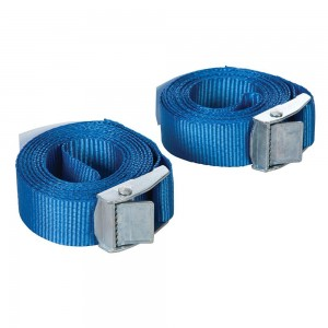 Silverline Cam Buckle Tie Down Strap 2.5m x 25mm Pack of 2