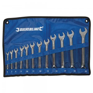 Silverline Combination Spanner Set 12 Piece (6-22mm)