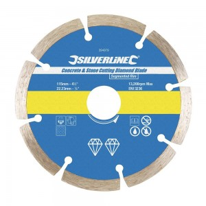 Silverline Concrete & Stone Cutting Diamond Blade (115-350mm)