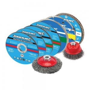 Silverline Cutting & Grinding Abrasive Discs Kit 12 Piece
