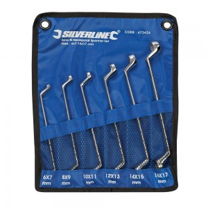 Silverline Deep Offset Ring Spanners Set 6 Piece (6-17mm)