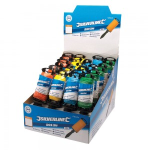 Silverline Display Box of 100m Brick Lines 24 Piece