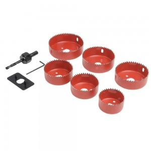 Silverline Down Light Installers Kit 9 Piece (50-86mm)