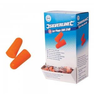Silverline Ear Plugs SNR 37dB Pack of 5 Pairs