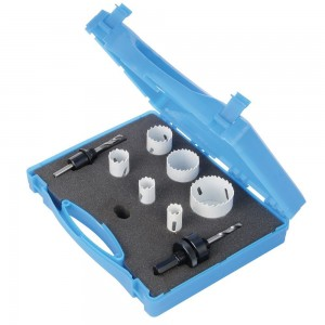 Silverline Electricians Bi-Metal Holesaw Kit 9 Piece (18-51mm)