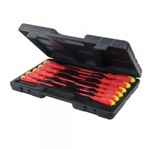 Silverline Electricians Insulated Soft-Grip Screwdriver Set 11 Piece