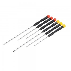 Silverline Extra-Long Precision Screwdriver Set 6 Piece
