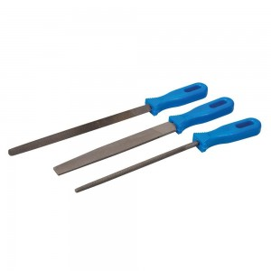 Silverline File Set 3 Piece (Flat, Round & Three-Square Files)