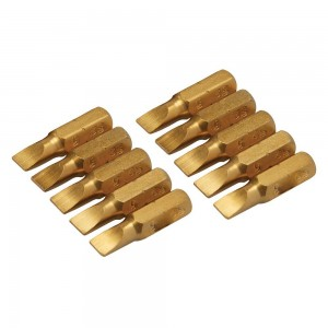 Silverline Gold Screwdriver Bits 25mm Pack of 10 (Various Sizes)