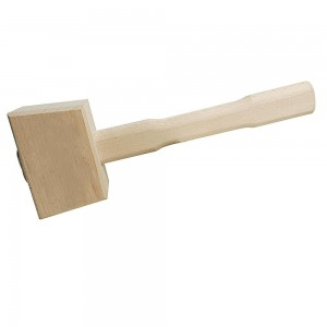 Silverline Hardwood Wooden Mallet 115mm Face