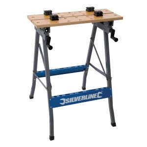 Silverline Heavy Duty Flip-Top Portable Folding Workbench