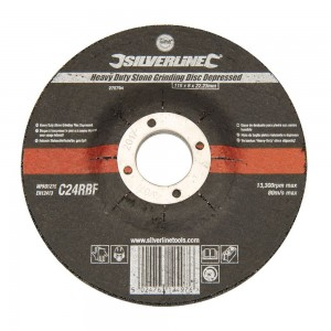 Silverline Heavy Duty Stone Grinding Disc Depressed Centre Each (115-230mm)